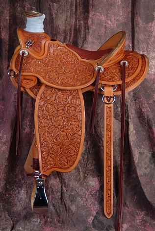 Grizzly Wade Full Flower Saddle - available from Grizzly Saddlery Inc. Great Falls, Montana