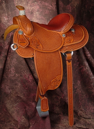 Whitney Roper Saddle - available from Grizzly Saddlery Inc. Great Falls, Montana